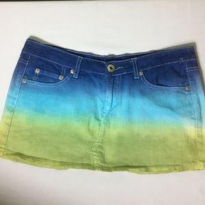 Ron Jon Surf Shop Juniors Tie Die Mini Skirt